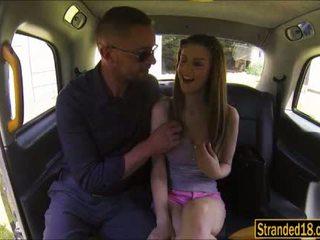 كبير jugs في سن المراهقة stella cox takes ضخم كوك في كس في ال سيارة