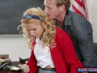 Cute Schoolgirl Alina West Banged On Desk By Her Teacher