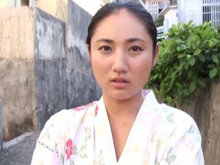 일본의, 큰 가슴, 아가씨