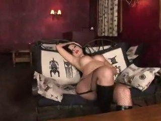 Brunette babe teasing and masturbating