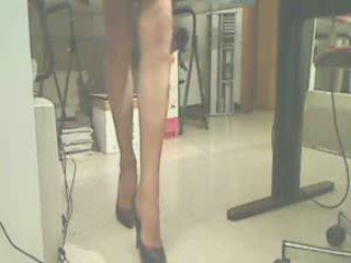 foot fetish, nylon, stockings