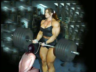 Female פיתוח גוף fbb bodybuilder שמנומנת שליטה נשית
