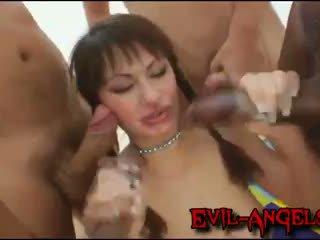 double penetration, monster cock, gang bang