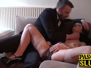 Horny Brunette Mom with Round Ass Playing with Her Used