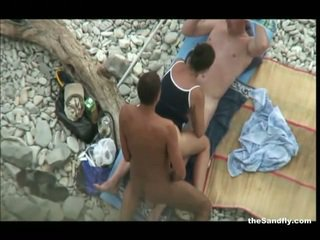 偷窥, 海滩, hot nudism