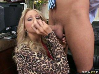 Egy üzleti hölgy giving fej
