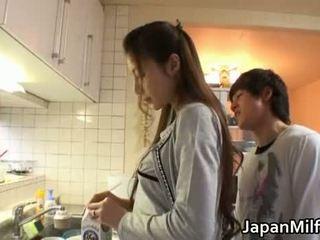 japanisch, küche, milf