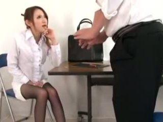 น่ารักน่าหยิก คุณครู masturbation และ ใช้เท้า, โป๊ d1