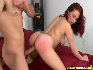 Frolicsome Redhaired Latina Belle Slide Onto The Ram Rod