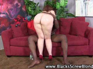 Big ass interracial slut fucks an African stallion