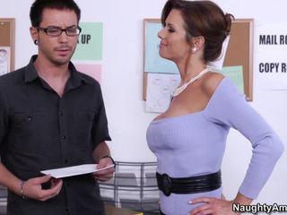 sexe hardcore, baiser chienne aux gros seins, sexe de bureau