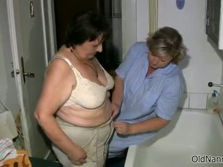 Dirty Fat Old Woman Gets Her Body Rubbed