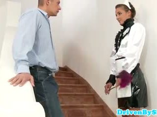 Eurobabe amirah adara facialized 으로 a 하녀