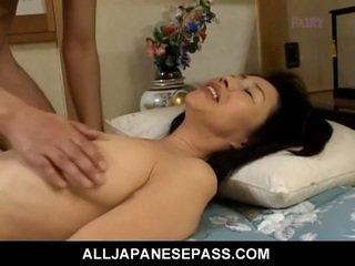 Makiko miyashita চোষা লোমশ বাড়া.