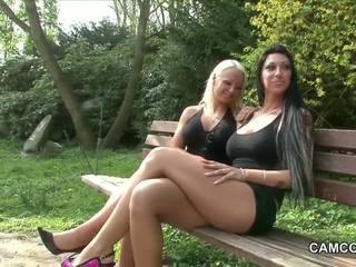 2 allemand adolescence baise public en park avec voyeur