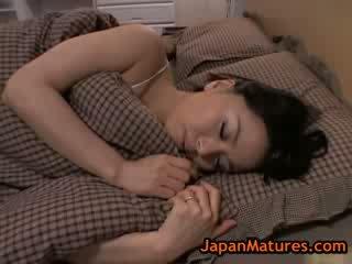 Matura grande tetta miki sato masturbare su letto 8 da japanmatures