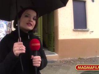 Magma film üleannetu kuum saksa brünett gangbanged
