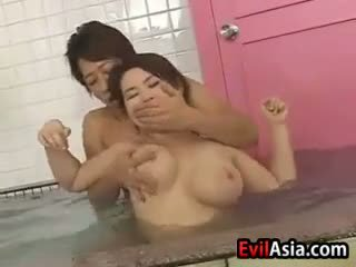 japonês, sexo grupal, chuveiro