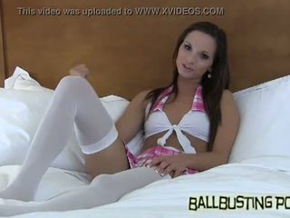 How would you like your balls busted by a schoolgirl