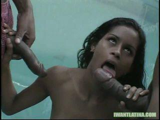 Kid 자메이카 과 mark anthony 수탉 slam 이 뜨거운 라틴어 slut1
