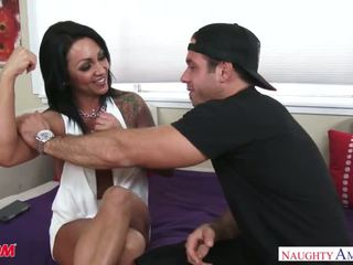 Big tits MILF Ashton Blake fucks her son's friend - Naughty America