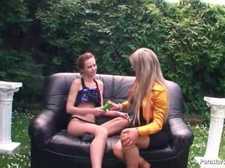 blondes, toys, outdoor sex