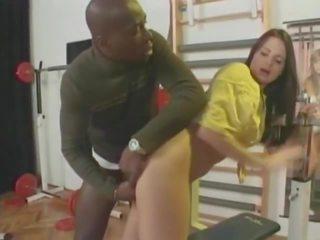 Cute 90s Brunette Has Her Ass Stretche...