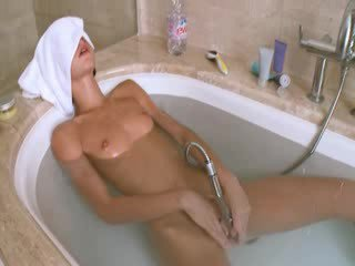 Petite danish girl in the hot bath