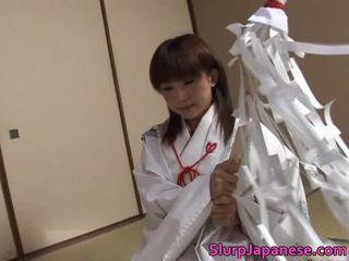 বন্য তরুণী kitajima performs চমত্কার orall সেবা