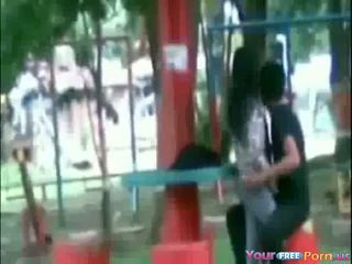 Spy On Young Asian Couple Outdoors