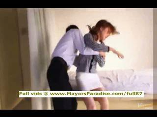Akiho yoshizawa innocent 中国の 女の子 gets プッシー licked