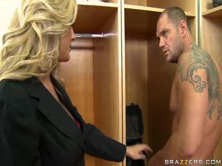 hardcore sex, blonde, lovitură de locuri de muncă