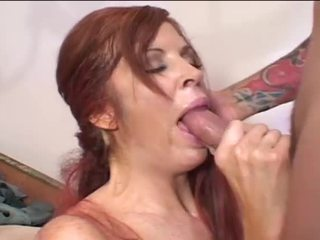 cowgirl, shaved pussy, red head