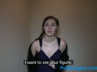 PublicAgent Skinny Brunette Pounded by a big Czech cock - Porn Video 741