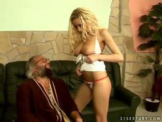 Naughty young nurse fucking with grandpa