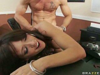 Beib sisse seksikas pitspesu having seks juures töö