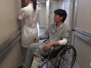Hikaru ayami den rökning häftigt kinesiska sjuksköterska has gjort kärlek stor