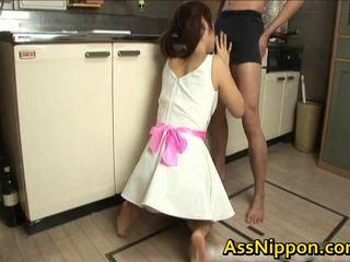 Ann takamiya aziýaly floozy enjoys getting