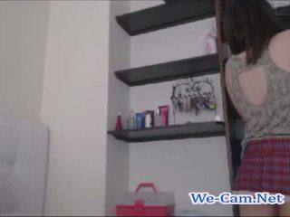 Cute teen schoolgirl horny masturbates toys on cams live