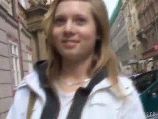 Czech Julia fucked in the toilet