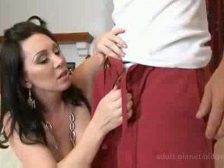 brunette, cougar, oral