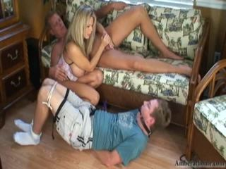 blondes, tugjob, female domination