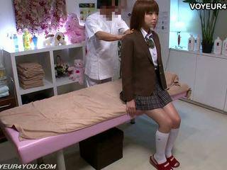 Japonez adolescenta școală fata corp masaj
