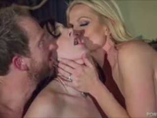 Sexy goth kvinne pleases kelly madison og henne hubby
