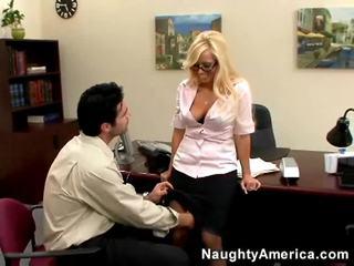 bagus seks tegar, blondes menyeronokkan, bagus pejabat seks segar