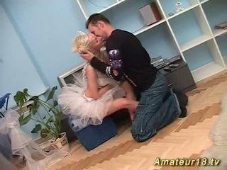 Flexi sexe avec maigre ballerine
