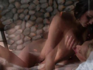 Lena Nicole And Sophia Jade Play Xxx Game By The Fireplace
