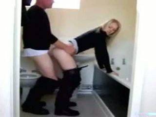 ayah, dan, kamar mandi