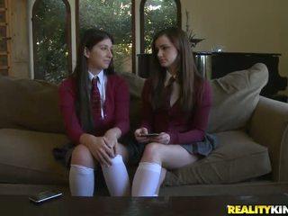 mới nữ sinh hq, xem đồng phục học sinh, lý tưởng schoolgirls khỏa thân đẹp