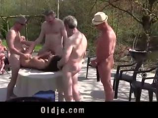 Anita bellini gang banged by 8 old mesum cocks